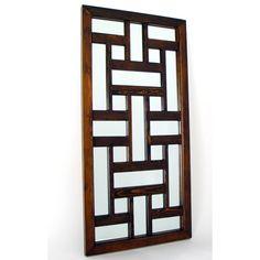 Ninpo Mirror from Oriental Furniture Gate Design, Door Design, House Design, Window Grill Design Modern, Balcony Grill, Family Photo Frames, Wood Mirror, Steel Doors, Wall Art Decor