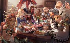 Video Game The Legend of Zelda: Breath of the Wild Link Zelda Teba (The Legend Of Zelda) Riju (The Legend Of Zelda) Sidon (The Legend Of Zelda) Yunobo (The Legend Of Zelda) Wolf Link Wallpaper