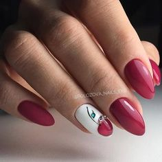 - The most beautiful nail designs Cherry Nails, Red Nails, Hair And Nails, Gorgeous Nails, Pretty Nails, Fruit Nail Art, Nagellack Trends, Super Nails, Nagel Gel