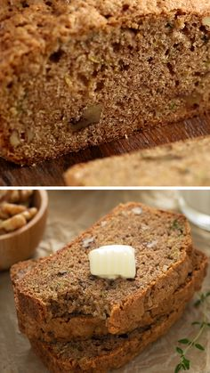 Sweet and moist Zucchini Bread filled with freshly grated zucchini, walnuts, and cinnamon. A great summer dessert cake when you have garden veggies or all year round for a breakfast or brunch. This easy quick bread recipe makes two loaves, so you can freeze one for later! Moist Zucchini Bread, Zucchini Bread Recipes, Quick Bread Recipes, Easy Bread, Baking Recipes, Cinnamon Bread, Pumpkin Bread, Summer Desserts, Freeze