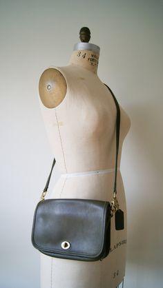 Vintage Coach Bag. Cross Body Purse. Olive by NewOldFashionVintage