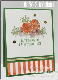 Oh So Succulent stamp set from the new Stampin' Up! Occasions 2017 catalog!   #stampinup, #inkspiredtreasures, order your supplies from Connie Babbert, www.inkspiredtreasures.com