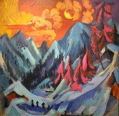 キルヒナー/月下の冬景色
