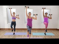 This workout is all about the upper body! Grab a set of light- to medium-sized weights, and get ready to tighten and tone the arms. Not only will this