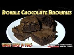I'll show you how to make some really yummy double chocolate brownies ! 2 types of chocolate go into this recipe, Hershey's chocolate chips and rich cocoa. Hershey's Chocolate Chips, Double Chocolate Brownies, Types Of Chocolate, Best Chocolate Cake, Hershey Chocolate, Chocolate Glaze, Chocolate Recipes, Brownie Recipes, My Recipes