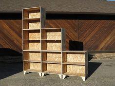 tansu style osb modular bookshelf unfinished