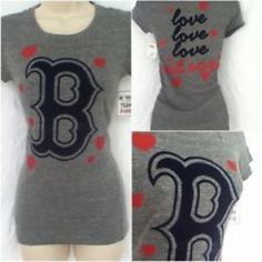 VS Pink Boston Red Sox Tee Barely worn PINK Victoria's Secret Tops Tees - Short Sleeve