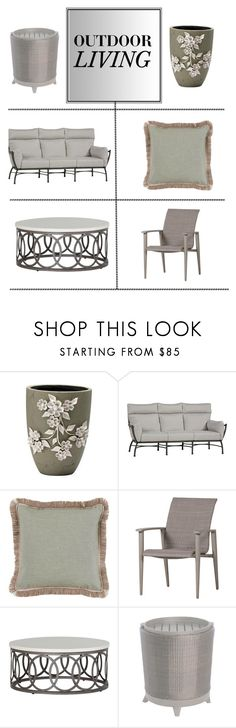 """""""Outdoors"""" by kathykuohome ❤ liked on Polyvore featuring interior, interiors, interior design, home, home decor, interior decorating, Talli, outdoors and outdoorliving"""