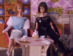 Vintage Barbie tea party - American Girl Barbies