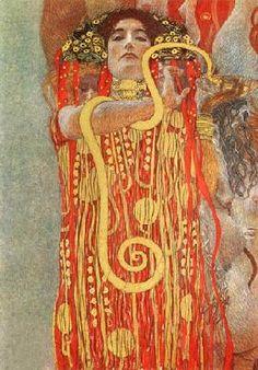 Gustav Klimt - Hygieia (Detalle de la medicina)