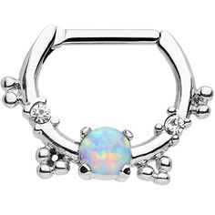 Body Candy Stainless Steel Synthetic Opal Simple Septum C...