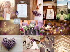 purple taupe and mocha autumn fall wedding colors warm it up
