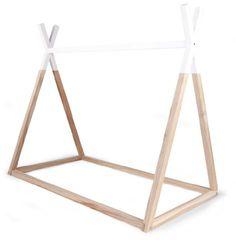 Childwood Eenpersoonsbed Matrasmaat:90x200cm, collectie: Tipi, Bed Frame wit/bruin, natural/white