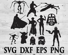 Star wars SVG Files Silhouettes DXF Files Cutting files Cricut