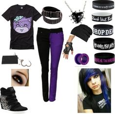 This is a cuuute DROP DEAD outfit... I love the girl's hair at the bottom! <3