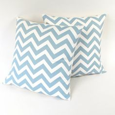Blue chevron pillowcases