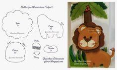 !!!!♥ Feltro-Aholic ♥ Moldes e pap em feltro e feltro estampado!: molde leão de feltro tema safari Ola