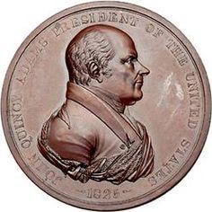 Medal; Indian Peace, John Quincy Adams, 1825 Commemorative, Bronze.