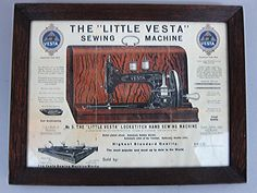 Little Vesta Sewing Machine Advert