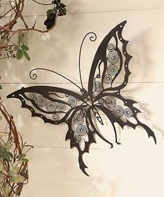 This Iron Butterfly Wall Art by Wind and Weather is perfect! #zulilyfinds
