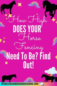 Get all the details on horse fencing for your horses. How high the   fencing should be. Different types of horse fencing. Costs per foot.   Maintenance of fencing and more. This post is meant to help you get the   best fencing for your money and save you time trying to figure out the   details by laying out what you need to know. #horsefencing   #horsefencingideas #horsefencingcheap #equestrianfencing   #sparklesrainbowsandunicorns Horse Fencing, Types Of Horses, Horse Property, Save Yourself, Equestrian, Fence, Good Things, Messages, Money