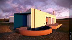 3D Binisafua - Carlos Ferrater by siem-yi   Vista fachada SO