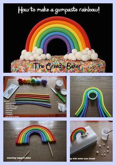 Regenbogenkuchen gefullt