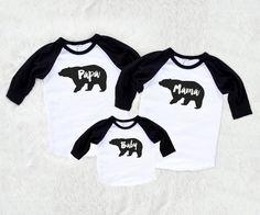 Family set of 3  Bear Set Mama bear Baby Bear by SofSBoutique