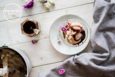Kuusenkerkkäsorbetti päärynästä 😍 Pudding, Desserts, Blog, Recipes, Tailgate Desserts, Deserts, Custard Pudding, Recipies, Puddings