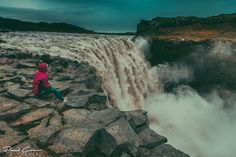 Sitting on the edge of Dettifoss