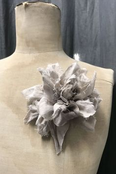 Fabric Flower Brooch | Wheat Linen Fabric Flower Brooch, Fabric Flowers, Perfectly Imperfect, Don't Give Up, Peonies, Im Not Perfect, Texture, Handmade, Accessories