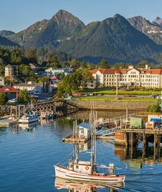 20 Amazing Small Towns in America - mom.me - Sitka, Alaska The site of the signing of the Alaska Purchase, Sitka is only accessible by plane or boat as it is actually a series of islands in the Pacific. And since mostly everything in Sitka is located within walking distance to the center of town, life for the nearly 9,000 people living there is pretty easy.