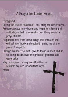 Prayer for Lent