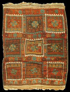 Antique Adiyaman rug, South East Anatolia, Turkey, 19th century. 150x181cm. Elazığ Muzesi