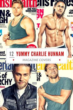 12 Yummy Charlie Hunnam Magazine Covers (MUST SEE) - Which one is your favorite? See them all here: http://www.soafanatic.com/2015/09/12-yummy-charlie-hunnam-magazine-covers/?ref=pinterest-092115
