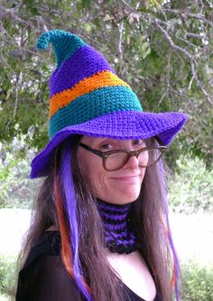 The Whimsical Witch-Hat - crochet floppy witch's hat for Halloween, free downloadable pattern