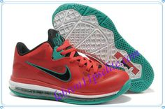 Lebron 9 Low Lebron James IX Liverpool Action Red Black White New Green 510811 601-A new sample of Lebron 9 Low