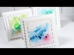 Easy Watercolor Valentine's Day Card video by Kristina Werner using Simon Says Stamp Exclusives.