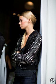 awesome jacket. #RebekkaMidjordEriksen #offduty in Copenhagen.