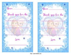 FREE Frozen Birthday Party Invitation and Thank You Printables #freeprintables #Frozen - Creative K Kids