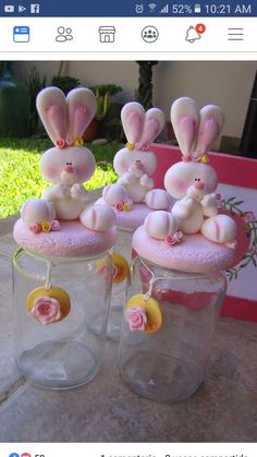 Polymer Clay Projects, Clay Crafts, Diy And Crafts, Baby Food Jars, Food Baby, Fondant Animals, Flowers In Jars, Diy Silicone Molds, Polymer Clay Animals