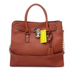 Michael Kors Hamilton Large Brown Totes Are Your Only Choice To Show Your Glamour.
