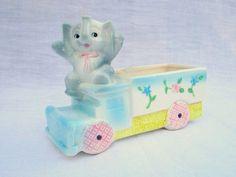 Retro Elephant and Flower Truck Planter. Vintage Nursery Decor. Willow Moon Vintage - Etsy.