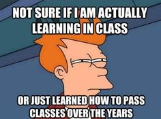Probably just learned how to pass classes over the years..unfortunately.