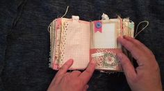 PAGE BY PAGE LOTS OF WRITING SPOTS - Mini Shabby Chic Sewing Junk Journal