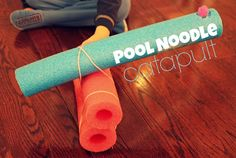 Looks so fun!  Pool Noodle Catapult. {Toddler Approved!}