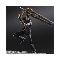 Gladiolus accompanies Noctis and his friends across the lands toward Alrissia where they are to meet a woman named Luna. When passing through the Duscae region they pass by a giant Admantoise.  	Moveable joints allow you to pose this Gladiolus Play Arts Action Figure however you please. He has been designed with incredible detail all the way down to his tattoos. He comes packaged with interchangeable hands and his signature great-sword, Gladio.  	Product Details:  	 		Size: Approx. 27cm…
