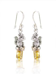 Go nuts for our silver and amber earrings. £15!