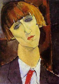 Madame Kisling. AMEDEO MODIGLIANI. Livorno (1884-1920). 1917. Óleo sobre lienzo. 46,2 × 33,2 cm. - Galería Nacional de Arte, Washington DC, Estados Unidos.