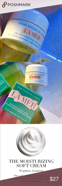 ★  La Mer Soft Cream ★ Perfect to try before committing to full size. Note item → size ← before purchasing. No trades. You will receive the following:   ★ New  ★ Unused  ★ Authentic  ★ Unopened   La Mer The Moisturizing Soft Cream Instructions included in box Size: 0.24 oz  / 7 ml Batch number: AA5  Quantity: 1   The Moisturizing Soft Cream deeply nourishes for a luminous finish. Skin looks smoother, vibrant, completely radiant. Excellent for a lighter spring moisturizer.   ✖ⓝⓞⓣ✖accepting…